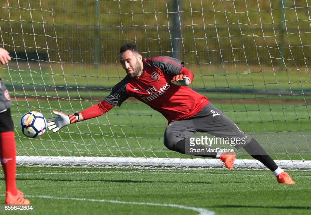 David Ospina of Arsenal during a training session at London Colney on September 30 2017 in St Albans England