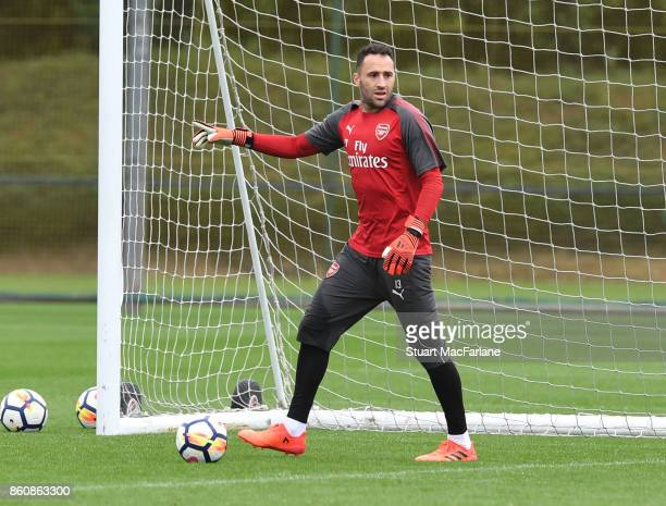 David Ospina of Arsenal during a training session at London Colney on October 13 2017 in St Albans England