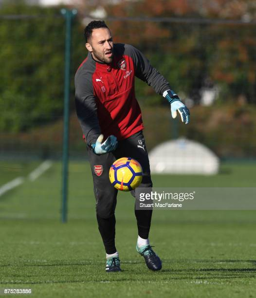 David Ospina of Arsenal during a training session at London Colney on November 17 2017 in St Albans England