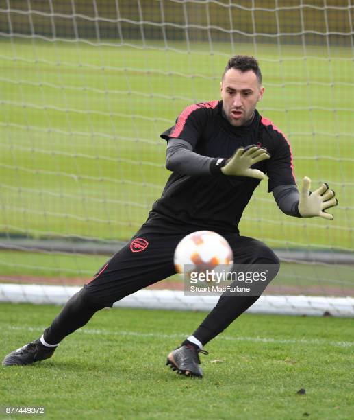 David Ospina of Arsenal during a training session at London Colney on November 22 2017 in St Albans England