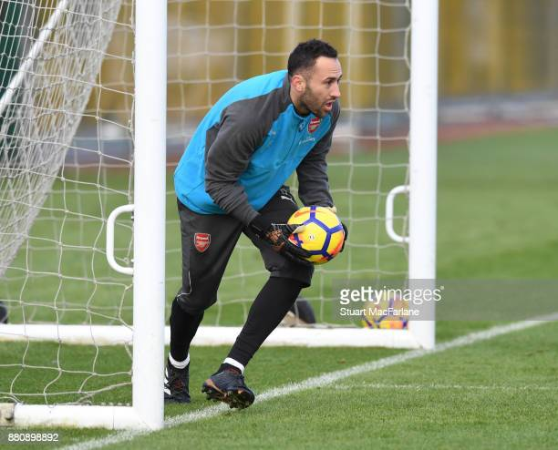 David Ospina of Arsenal during a training session at London Colney on November 28 2017 in St Albans England