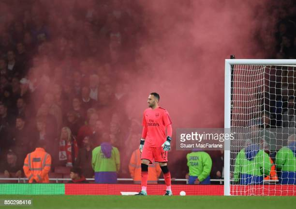 David Ospina of Arsenal during the Carabao Cup Third Round match between Arsenal and Doncaster Rovers at Emirates Stadium on September 19 2017 in...