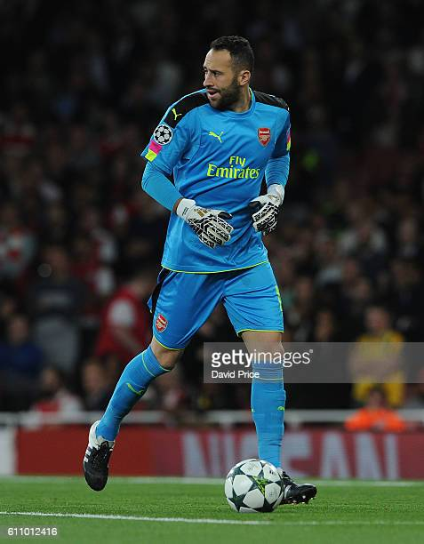David Ospina of Arsenal during the UEFA Champions League match between Arsenal FC and FC Basel 1893 at Emirates Stadium on September 28 2016 in...
