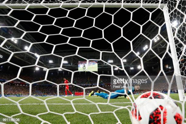 David Ospina of Colombia in action during the 2018 FIFA World Cup Russia Round of 16 match between Colombia and England at Spartak Stadium on July 3...