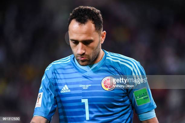 David Ospina of Colombia looks dejected during the 2018 FIFA World Cup Russia Round of 16 match between Colombia and England at Spartak Stadium on...