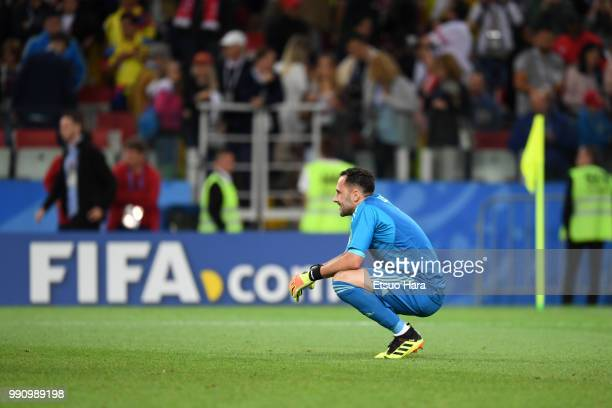 David Ospina of Colombia looks dejected following his sides defeat in the 2018 FIFA World Cup Russia Round of 16 match between Colombia and England...