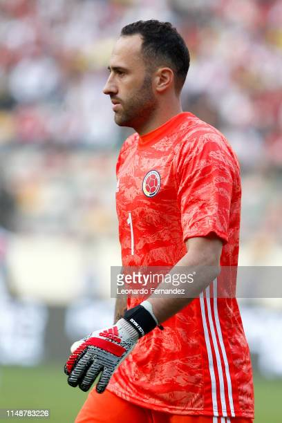David Ospina of Colombia looks on during a friendly match between Peru and Colombia at Estadio Monumental de Lima on June 9 2019 in Lima Peru