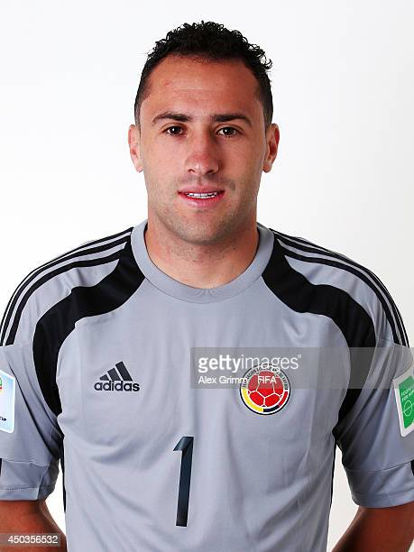 David Ospina of Colombia poses during the official FIFA World Cup 2014 portrait session on June 9 2014 in Sao Paulo Brazil