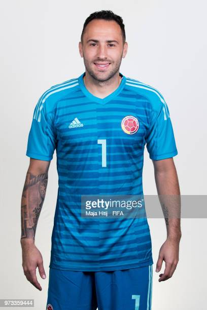 David Ospina of Colombia poses for a portrait during the official FIFA World Cup 2018 portrait session at Kazan Ski Resort on June 13 2018 in Kazan...