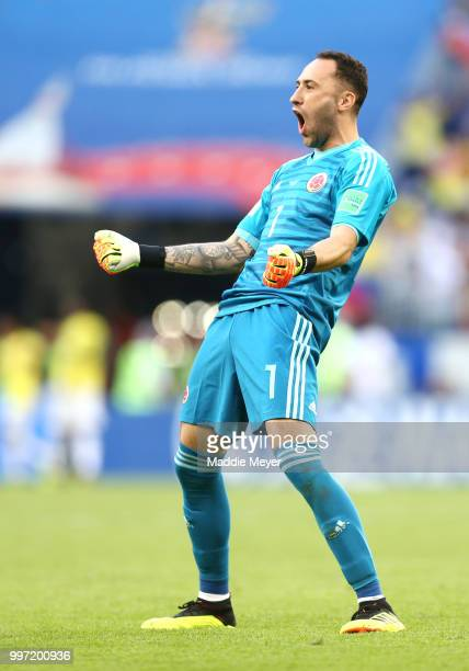 David Ospina of Colombia reacts after the 2018 FIFA World Cup Russia group H match between Senegal and Colombia at Samara Arena on June 28 2018 in...