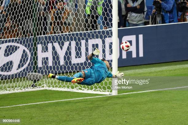 David Ospina of Colombia saves the third penalty from Jordan Henderson in the penalty shoot out during the 2018 FIFA World Cup Russia Round of 16...