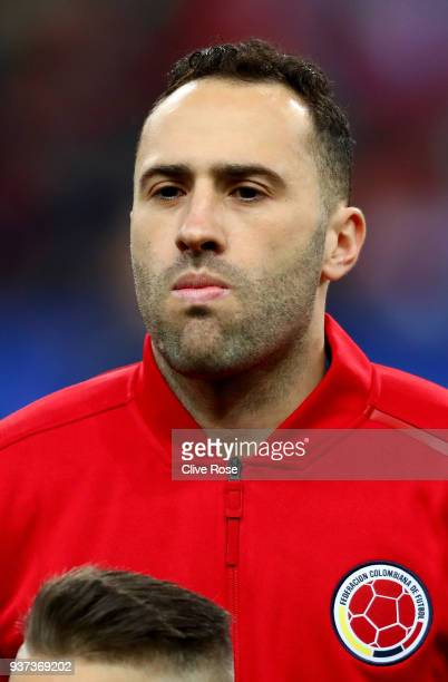 David Ospina of Columbia looks on prior to the International friendly match between France and Columbia at Stade de France on March 23 2018 in Paris...