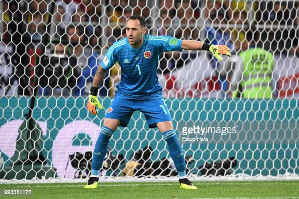 David Ospina of England in action during the 2018 FIFA World Cup Russia Round of 16 match between Colombia and England at Spartak Stadium on July 3...