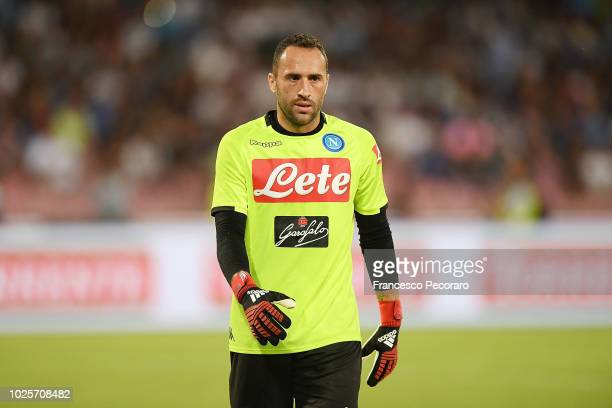 David Ospina of SSC Napoli in action during the serie A match between SSC Napoli and AC Milan at Stadio San Paolo on August 25 2018 in Naples Italy
