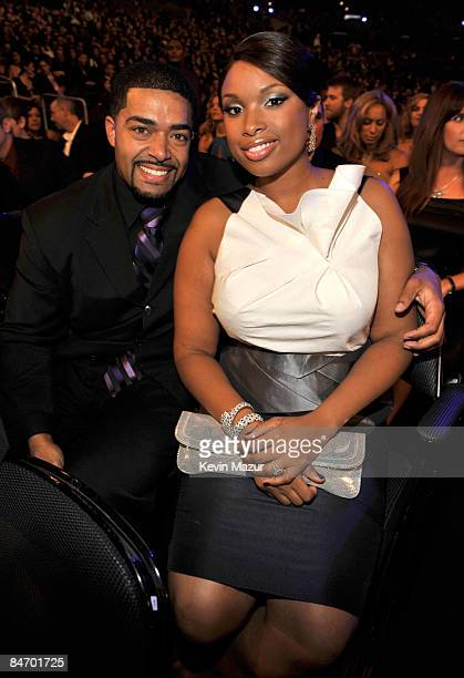 LOS ANGELES CA FEBRUARY 08 David Otunga and Jennifer Hudson at the 51st Annual GRAMMY Awards at the Staples Center on February 8 2009 in Los Angeles...