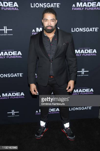 David Otunga attends a screening for Tyler Perry's A Madea Family Funeral at SVA Theater on February 25 2019 in New York City