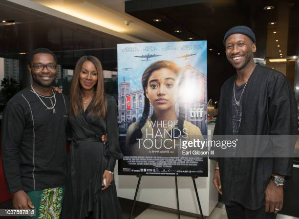 David Oyelowo Amma Asante and Mahershala attend the screening of 'Where Hands Touch' at CAA on September 21 2018 in Los Angeles California