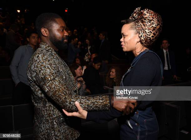 David Oyelowo and Andra Day speak after being announced as Girl Rising ambassadors in celebration of International Women's Day on March 8 2018 in Los...