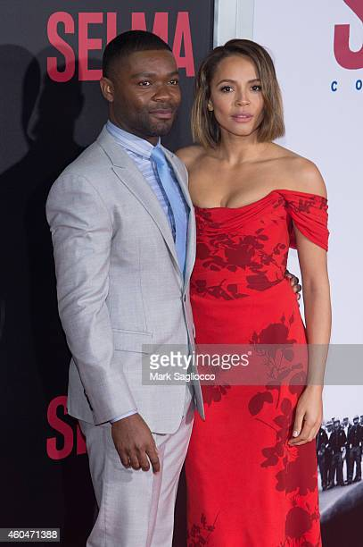 David Oyelowo and Carmen Ejogo attend the Selma New York Premiere at the Ziegfeld Theater on December 14 2014 in New York City