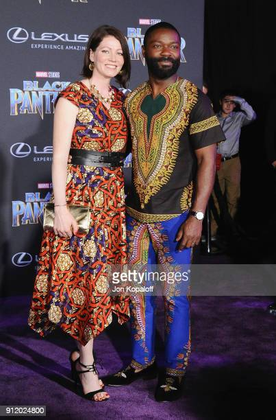 David Oyelowo and Jessica Oyelowo attend the Los Angeles Premiere 'Black Panther' at Dolby Theatre on January 29 2018 in Hollywood California