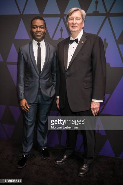 David Oyelowo and John Bailey arrive at the Academy of Motion Picture Arts and Sciences' Scientific and Technical Awards ceremony on February 9 2019...