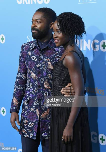 David Oyelowo and Lupita Nyong'o attend the Los Angeles Premiere 'Gringo' at Regal LA Live Stadium 14 on March 6 2018 in Los Angeles California