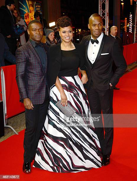 David Oyelowo Ava DuVernay and Colman Domingo attend the 'Selma' screening during the 65th Berlinale International Film Festival at...