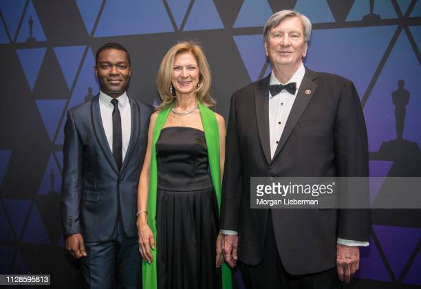 David Oyelowo Dawn Hudson and John Bailey arrive at the Academy of Motion Picture Arts and Sciences' Scientific and Technical Awards ceremony on...