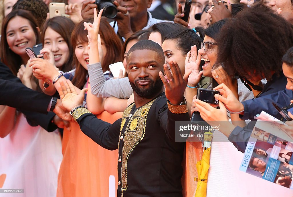 David Oyelowo greets fans at the 2016 Toronto International Film Festival - 'Queen Of Katwe' premiere held at Roy Thomson Hall on September 10, 2016 in Toronto, Canada.