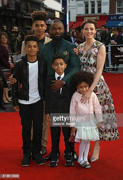 David Oyelowo Jessica Oyelowo and family attend the 'Queen Of Katwe' Virgin Atlantic Gala screening during the 60th BFI London Film Festival at Odeon...