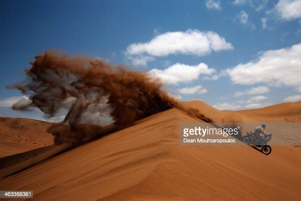 David Pabiska of the Czech Republic for KTM SP Moto Bohemia Racing competes in stage 12 on the way to La Serena during Day 13 of the 2014 Dakar Rally...