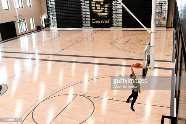 David Padilla throws down a jam at the Lola Rob Salazar Wellness Center at the University of Colorado Denver on Monday July 30 2018