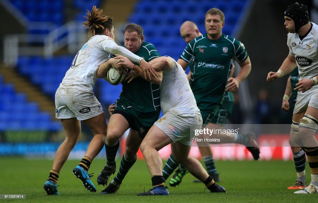 London Irish v Wasps - Anglo-Welsh Cup : News Photo