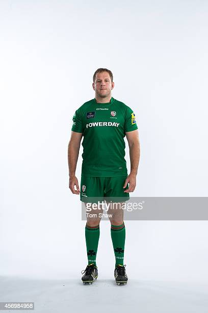 David Paice of London Irish poses for a picture during the BT PhotoShoot at Sunbury Training Ground on August 27 2014 in Sunbury England