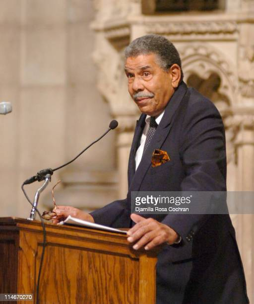 David Parks at Riverside Church during the funeral service for Photographer Gordon Parks on March 14 2006 in New York City