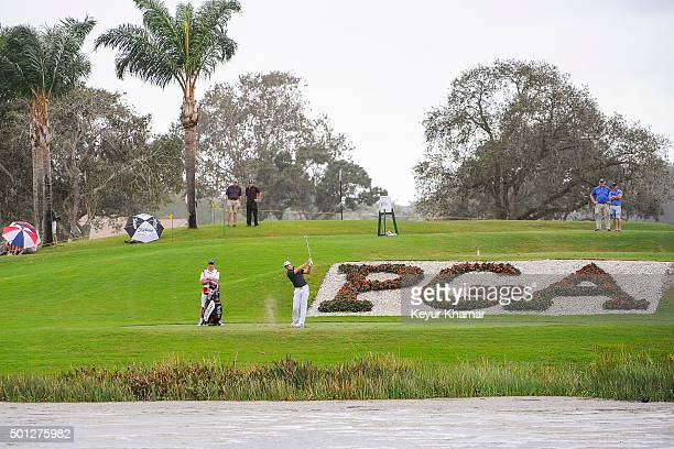 David Pastore hits his second tee shot from the drop zone on the 17th hole of the Champion Course during the final round of Webcom Tour QSchool at...