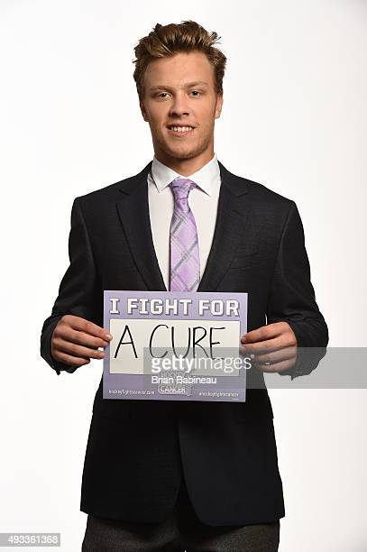 David Pastrnak of the Boston Bruins poses for pictures at the NHL Player Media Tour at the Ritz Carlton on September 9 2015 in Toronto Ontario