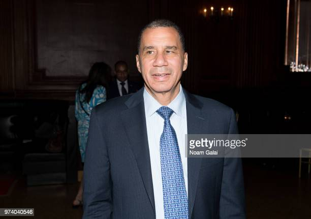 David Paterson attends Ivana Trump's press conference announcing her new campaign to fight obesity at The Plaza Hotel on June 13 2018 in New York City