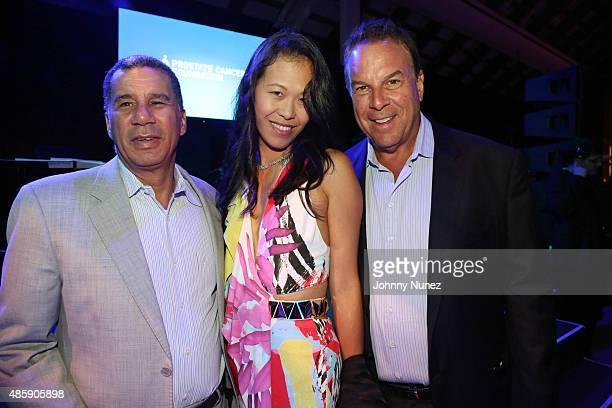 David Paterson Mei Sze Greene and Jeff Greene attend the 11th Annual Charles Evans PCF ProAm Tennis Tournament Gala at Parrish Art Museum on August...