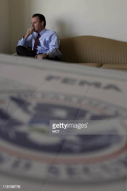 David Paulison the acting director of the Federal Emergency Agency is shown during an interview in Washington DC on Friday October 28 2005