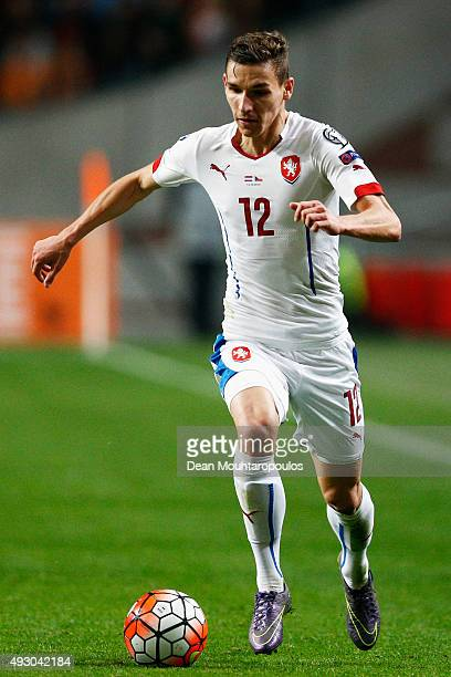 David Pavelka of the Czech Republic in action during the Group A UEFA EURO 2016 qualifying match between Netherlands and Czech Republic held at...