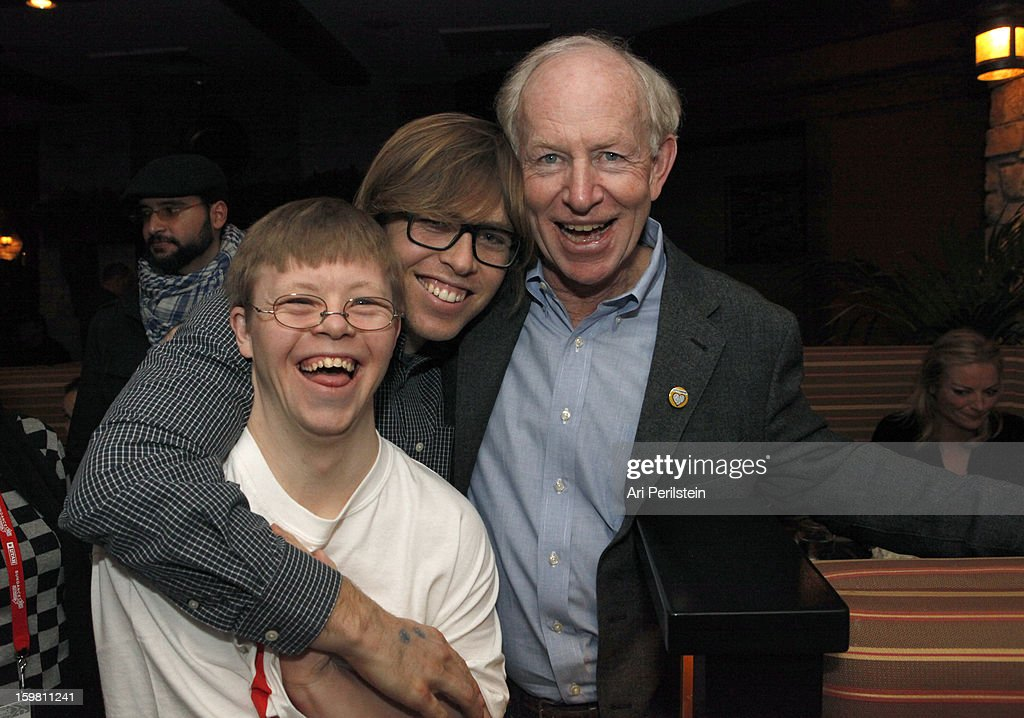 David Pearce, Kevin Pearce and Simon Pearce attend the HBO Documentary Films Sundance Party on January 20, 2013 in Park City, Utah.