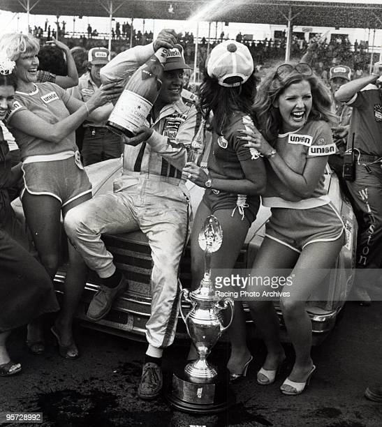 David Pearson celebrates his only win of the season at the Southern 500.