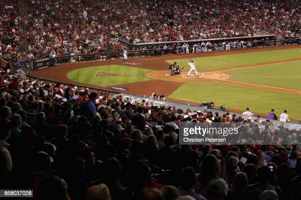 David Peralta of the Arizona Diamondbacks bats against the Colorado Rockies during the frist inning of the National League Wild Card game at Chase...