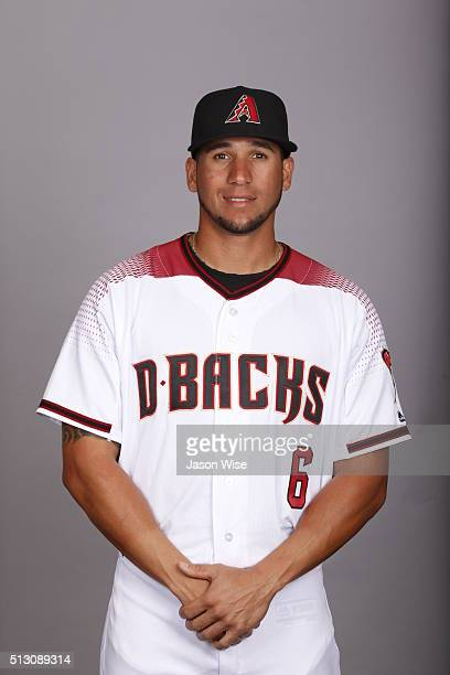 David Peralta of the Arizona Diamondbacks poses during Photo Day on Sunday February 28 2016 at Salt River Fields at Talking Stick in Scottsdale...
