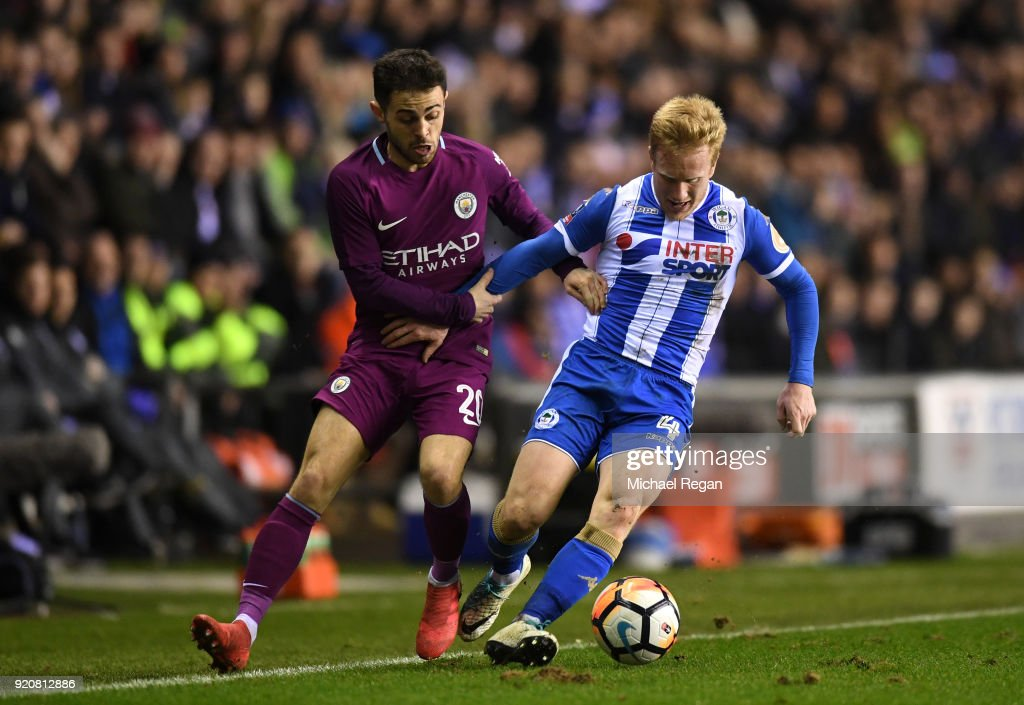 Wigan Athletic v Manchester City - The Emirates FA Cup Fifth Round : News Photo