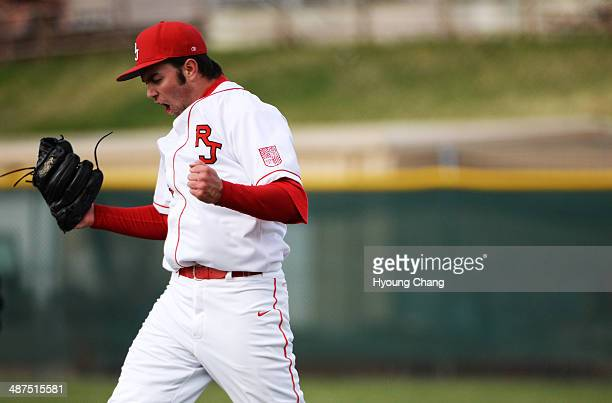 David Peterson of Regis Jesuit High School celebrate winning of the game against Mountain Vista High School at Regis Jesuit High School Aurora...