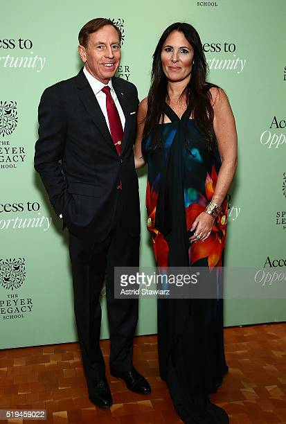 David Petraeus and Dr Kelly Posner Gerstenhaber attend 2nd Annual Speyer Legacy School Access To Opportunity Initiative Benefit at Carnegie Hall on...