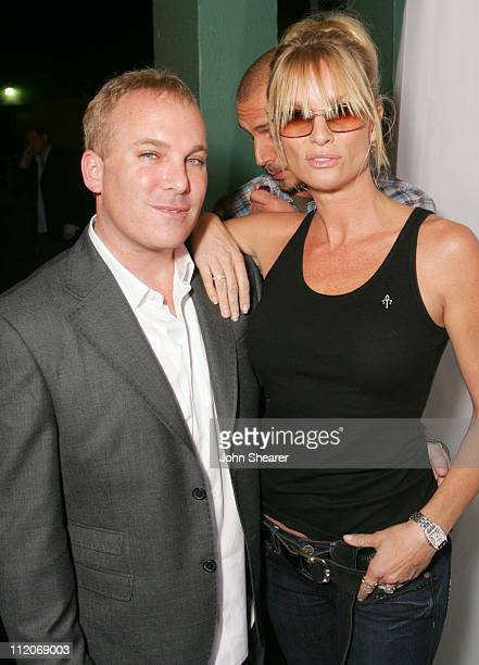 David Pinsky and Nicollette Sheridan during Motorola's 8th Anniversary Party Featuring a Performance by Christina Aguilera at Hollywood Palladium in...