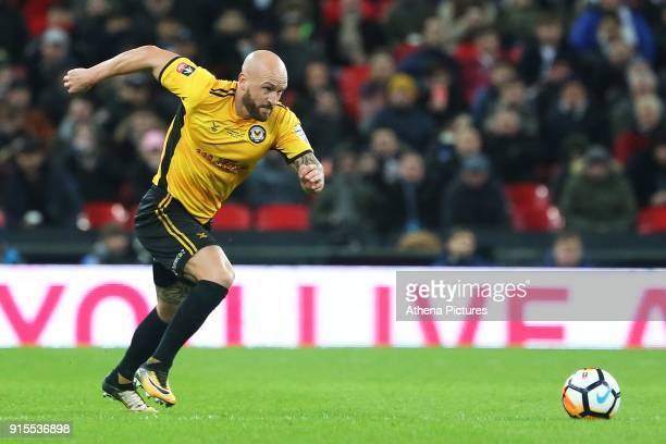 David Pipe of Newport County during the Fly Emirates FA Cup Fourth Round Replay match between Tottenham Hotspur and Newport County at Wembley Stadium...